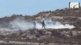 מתוך סרטון התיעוד של ההפגנה בכפר נבי סאלח