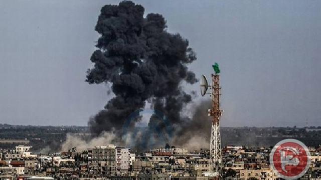 """הפצצה בעזה. קרדיט: """"מען"""""""