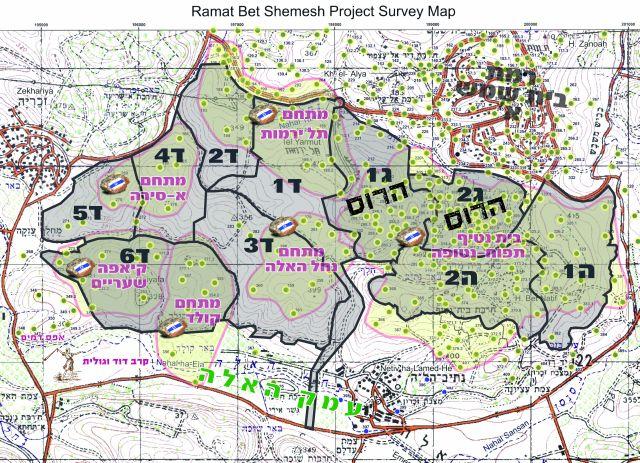 השכונות שיוקמו על מתחמי הארכאולוגיה (מטה האזרחים למען גן לאומי ארץ דוד)