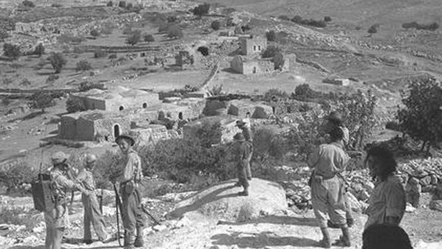 הכפר בית נתיף לאחר שנכבש (ויקיפדיה)