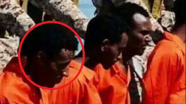 ט' במדי האסיר של דאעש