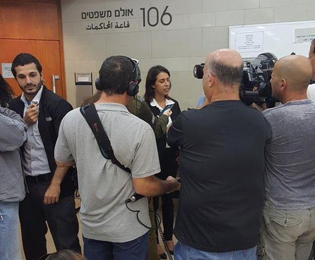 """השבוע בבית המשפט בדיון לשחרור מוקדם. צילום מתוך דף הפייסבוק """"משחררים את אתי אלון"""""""