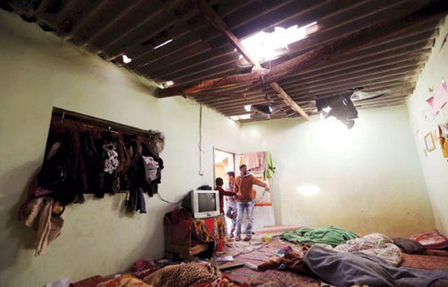 בית משפחת אבו ח'וסה לאחר ההפצצה