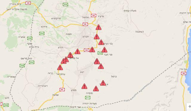 פת חסימות שתיעד תחקירן בצלם, נאסר נוואג׳עה, ופעילים נוספים בדרום הר חברון