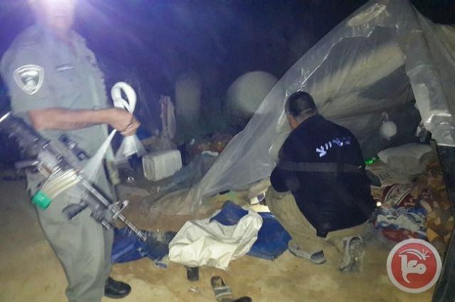 אוהלי העובדים הפלסטינים בנחל הבשור