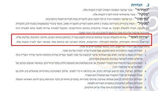 מתוך חוברת הנהלים של השירות הלאומי: http://ncs.gov.il/ncs/Documents/sherut-meida-new-2014.pdf