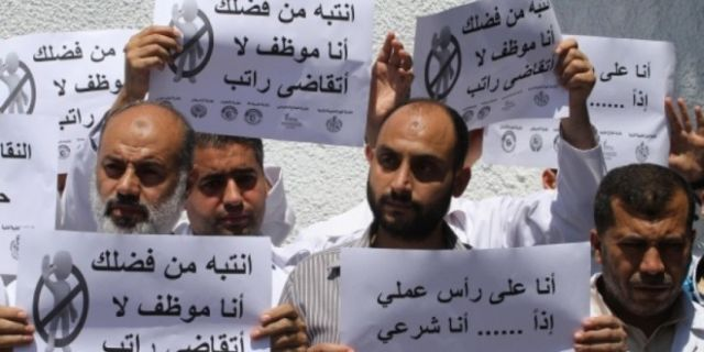 striking teachers in gaza