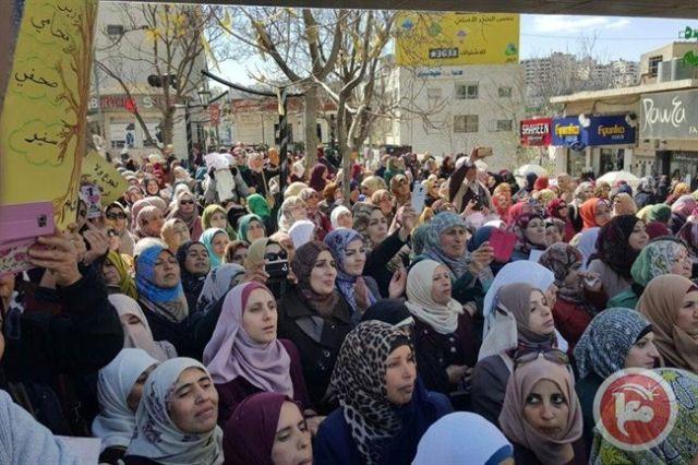 הפגנת המורים והמורות היום בחברון. קרדיט: סוכנות הידיעות מען