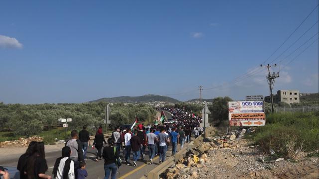 הצעדה מסכנין לעראבה, אתמול (30.03.2016)