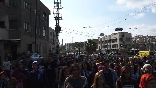 מפגינות בסכנין, אתמול (30.03.2016)